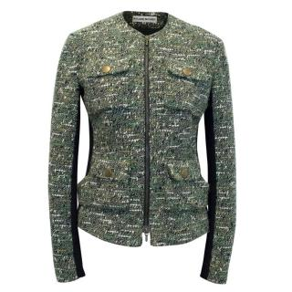 Roland Mouret Green and Black Tweed Jacket
