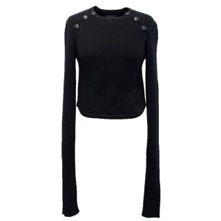 Isabel Marant Black 'Hatfield' Knitted Jumper