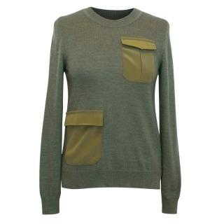Altuzarra Green Patch Pocket Sweater