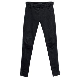 Balenciaga Black Skinny Mid-Rise Jeans with Zipped Hems