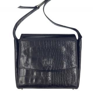 Gianni Versace Alligator Leather Box Shoulder Bag