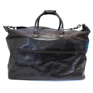 Maud Frizon Brown Leather Travel Bag