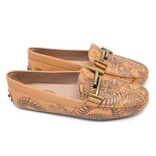 Tods Double T Tattoo-Inspired Gommino Driving Shoes