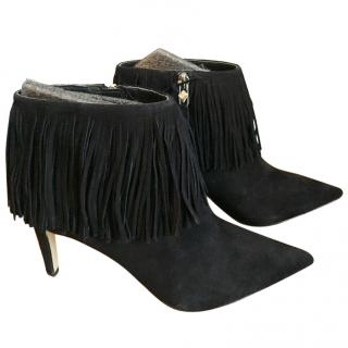 Sam Edelman Kandice Black Suede Ankle Boots UK 4.5