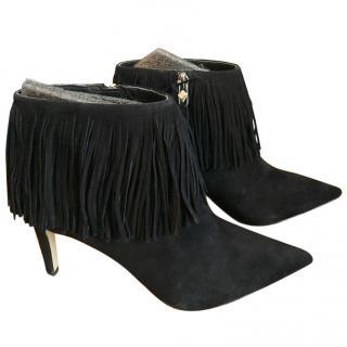 Sam Edelman Kandice Black Suede Ankle Boots UK 4.5