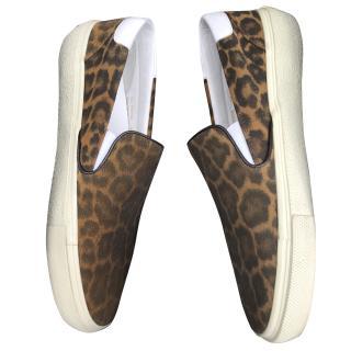 Saint Laurent Paris Sneaker Leopard Shoes Brand New EU38 UK5