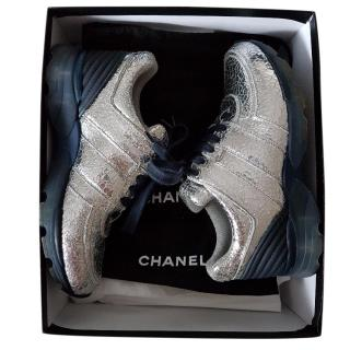 Chanel Silver Sneakers
