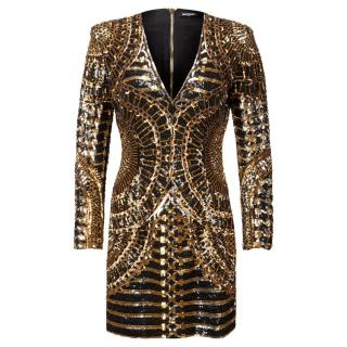 Balmain ss16 sequined dress