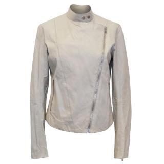 Joseph Beige Leather Jacket