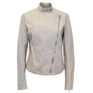 Joseph Beige Leather Jacket