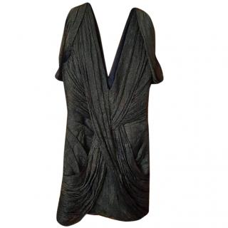 Matthew Williamson Metallic Bronze Dress S