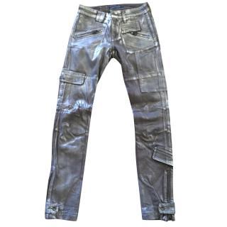 Ralph Lauren Collection metallic jeans