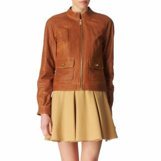 Mulberry tan leather jacket