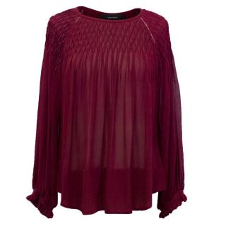 Isabel Marant Burgundy Silk Blouse