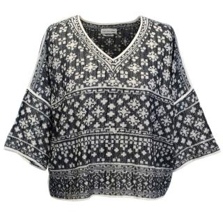 Isabel Marant Etoile Pattern Cotton Blend Top