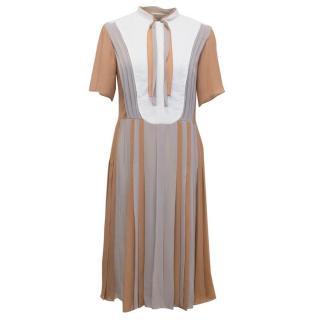 Jos Ready to Wear Multicolour Pleated Dress