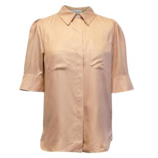 Chloe Nude Silk Short Sleeved Shirt