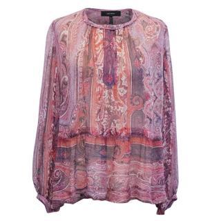 Isabel Marant Paisley Print Silk Blouse