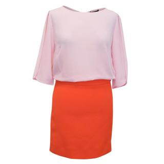 Maje Reggio Two Tone Dress