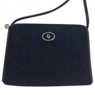 Christian Dior Vintage Black Logo Shoulder Bag
