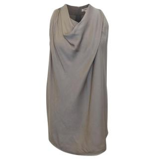 Helmut Lang Taupe Silk Top