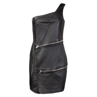 Saint Laurent SS16 leather dress