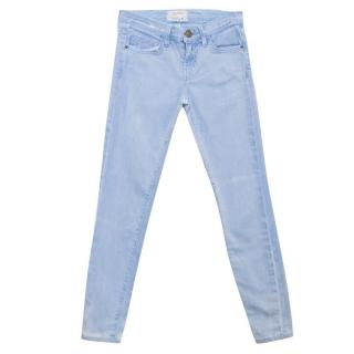 Current Elliott Bleached Denim Skinny Jeans