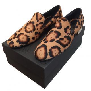 Giambattista Valli Leopard Print Loafers