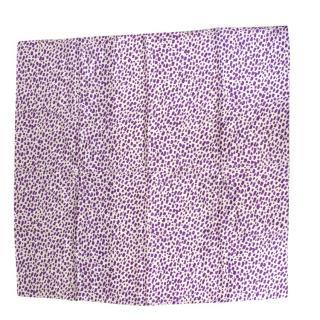 Balenciaga Purple And White Pattern Silk Scarf