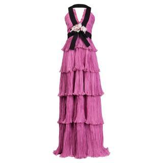 Gucci SS16 Pink Chiffon Silk gown