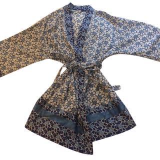 Oscar de la Renta Patterned Robe