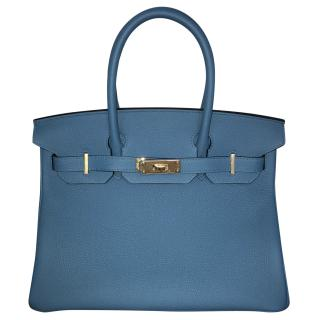 Hermes 30' Cobalt Blue Birkin