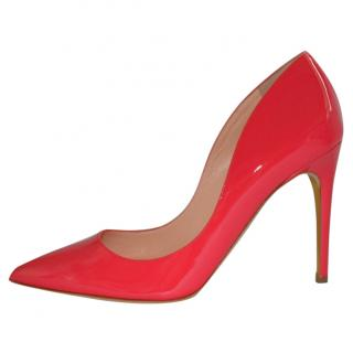 Rupert Sanderson Pinka Coral/Pink Leather High Heel Pumps