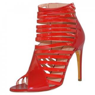 Rupert Sanderson Nabis Red leather High Heel sandals