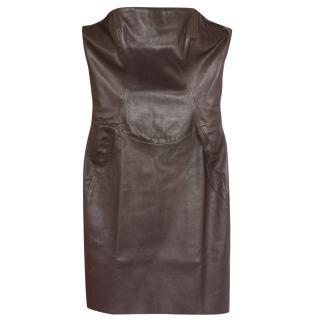 Jitrois leather mini dress Fr 34