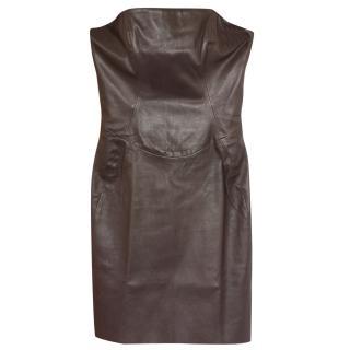 Jitrois leather mini dress Fr 34