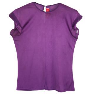 Roksanda Ilincic purple silk top S
