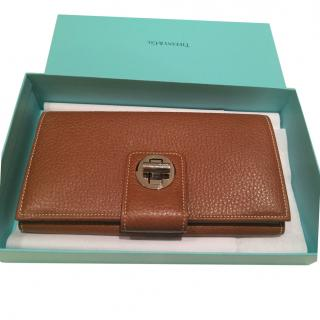 Tiffany & Co brown leather wallet