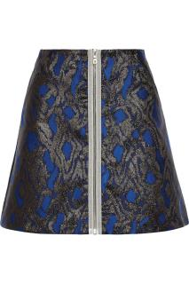 Markus Lupfer metallic mini skirt.