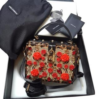 Dolce & Gabbana leopard and jewel flower box bag