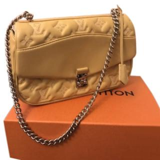 Louis Vuitton Monogram Yellow Poch. leather Bag with chain