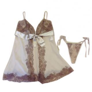 Marjolaine 100% silk lingerie set