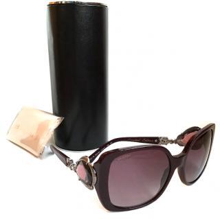 Bulgari Burgundy Jewelled sunglasses