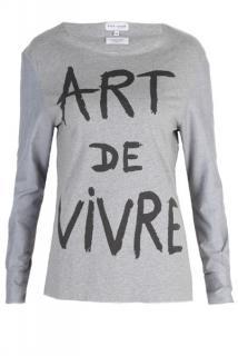 Each x Other Art De Vivre Grey Top