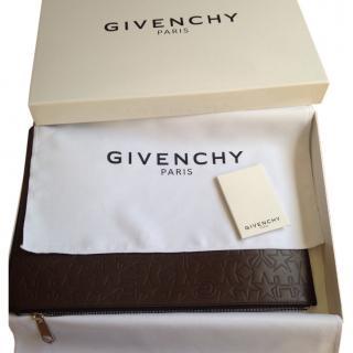 Givenchy 'Paris' Calf Leather Zip Clutch Bag