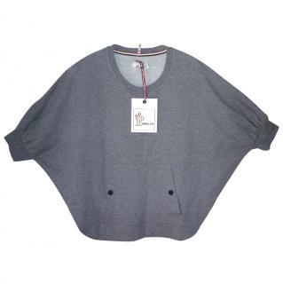 Moncler Grenoble Grey Batwing Sweatshirt NEW (Large)