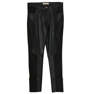 Pucci suede/leather trousers It 40