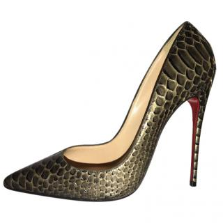 Christian Louboutin So Kate 120 Python Armure