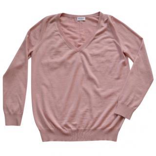Saint Laurent pink wool jumper