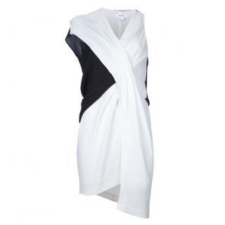 Helmut Lang asymmetric black and white dress